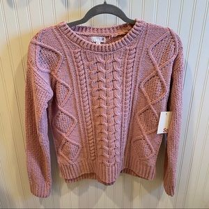 SO (Kohl's) Pink Sweater